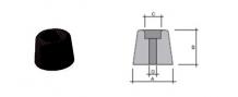 PARACOLPO TRONCOCONICO IN PVC NERO PT IVARS