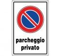 CARTELLO IN ALLUMINIO PARCHEGGIO PRIVATO 0540.00.80 D&B