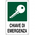 CARTELLO ALL. CHIAVE DI EMERGENZA 0320.63.00 D & B VERONA