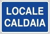 CARTELLO IN ALLUMINIO LOCALE CALDAIA 0410.12.40 D&B