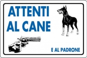 CARTELLO ALL. ATTENTI AL CANE E AL PADRONE 0780.06.20 D&B