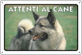 CARTELLO ALL. ATTENTI AL CANE 0791.00.10 D&B