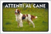CARTELLO ALL. ATTENTI AL CANE 0791.00.30 D&B