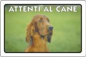 CARTELLO ALL. ATTENTI AL CANE 0791.00.40 D&B
