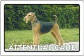 CARTELLO ALL. ATTENTI AL CANE 0791.00.70 D&B