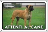 CARTELLO ALL. ATTENTI AL CANE 0791.00.80 D&B