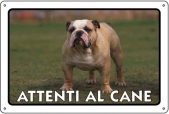 CARTELLO ALL. ATTENTI AL CANE 0791.00.90 D&B