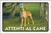 CARTELLO ALL. ATTENTI AL CANE 0791.00.00 D&B
