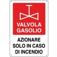 CARTELLO ALL. ANTINCENDIO VALVOLA GASOLIO 0240.19.00 D&B