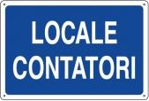 CARTELLO IN ALLUMINIO LOCALE CONTATORI 0410.12.10 D&B