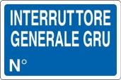 CARTELLO ALL. INTERRUTTORE GENERALE GRU 04102970 D&B