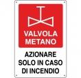 CARTELLO ALL. ANTINCENDIO VALVOLA METANO 0240.22.00 D&B