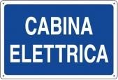 CARTELLO IN ALLUMINIO CABINA ELETTRICA 0410.21.70 D&B