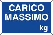 CARTELLO IN ALLUMINIO CARICO MASSIMO KG 0410.26.70 D&B