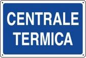 CARTELLO IN ALLUMINIO CENTRALE TERMICA 0410.00.40 D&B