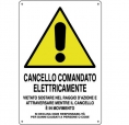 CARTELLO ALL. CANCELLO ELETTRICO 0020.04.00 D&B