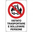 CARTELLO ALL. DIVIETO TRASPORTO PERSONE 0110.19.00 D&B