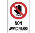 CARTELLO ALL. STOP NON AVVICINARSI 0110.31.00 D&B