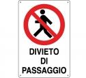 CARTELLO ALL. DIVIETO DI PASSAGGIO 0110.34.20 D&B