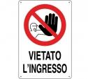 CARTELLO ALL. VIETATO L' INGRESSO 0110.38.00 D&B
