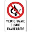CARTELLO ALL. VIETATO USARE FIAMME LIBERE 0110.44.00 D&B