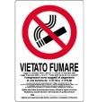 CARTELLO ALL. VIETATO FUMARE 0110.47.20 D&B