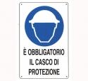 CARTELLO ALL. OBBLIGO CASCO DI PROTEZIONE 0180.45.00 D&B