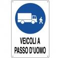 CARTELLO ALL. VEICOLI A PASSO D' UOMO 0180.67.00 D&B