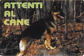 CARTELLO ALL. ATTENTI AL CANE 0790.00.10 D&B