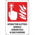 CARTELLO ALL. INTERRUTTORE ANTINCENDIO 0240.46.10 D&B