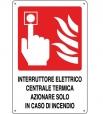 CARTELLO ALL INTERRUTTORE CENTRALE TERMICA 0240.46.30 D&B