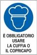 CARTELLO ALL. OBBLIGO CUFFIA E COPRICAPO 180.42.00 D&B
