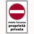 CARTELLO ALL. DIVIETO DI ACCESSO 0540.14.30 D&B