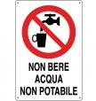 CARTELLO ALL. ACQUA NON POTABILE 0110.54.10 D&B