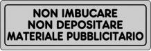 ETICHETTA ADESIVA NON IMBUCARE PUBBLICITÀ 1590.33.00 D&B