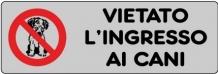 ETICHETTA ADESIVA VIETATO INGRESSO CANI 1590.18.00 D&B