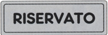 ETICHETTA ADESIVA RISERVATO 1590.57.30 D&B
