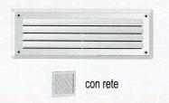 GRIGLIA RETTANGOLARE CON RETE CR237X LA VENTILAZIONE