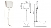 CASSETTA WC ALTA TURCHESE 440401 OLI