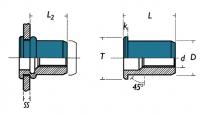 CONFEZIONE INSERTI FILETTATI INOX A2 ITCA2-RIVERSET RIVIT