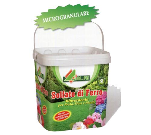 Solfato di ferro rinverdente per prato fiori alfe for Prezzo del ferro al kg oggi