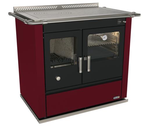 Cucina a legna rizzoli s90 rosso bordeaux - Cucina a legna rizzoli ...