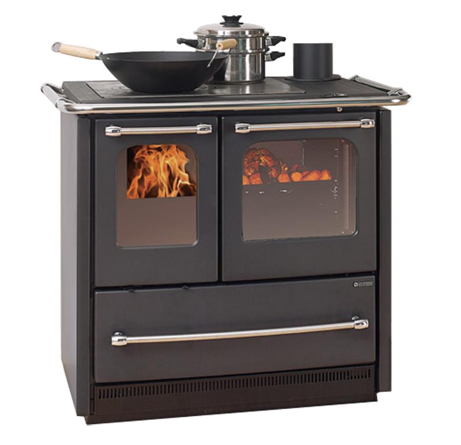 Cucina a legna sovrana easy nera la nordica - Nordica cucina a legna ...