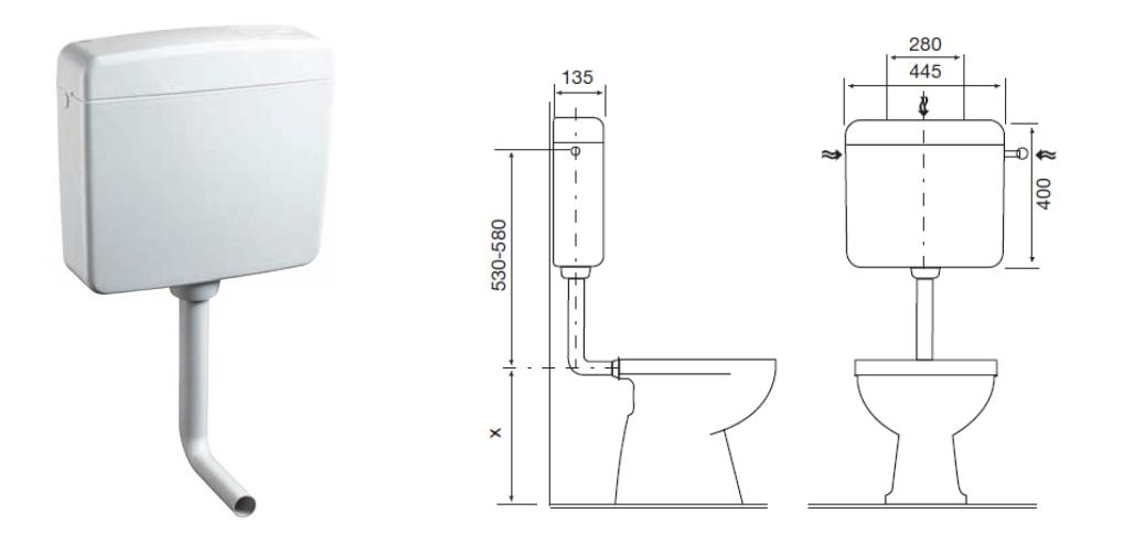 Cassetta wc esterna a zaino topazio oli - Cassetta scarico wc esterna montaggio ...